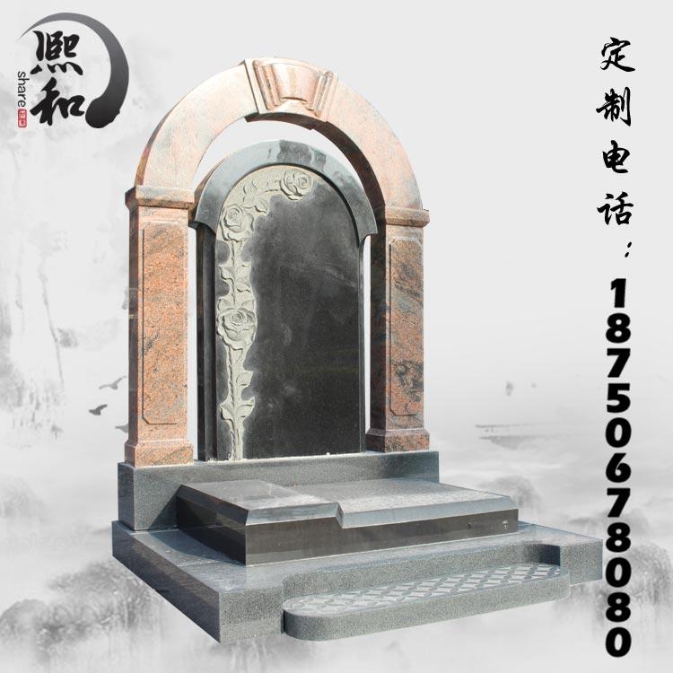 欧式墓碑,花岗岩墓碑,墓碑石材 组合
