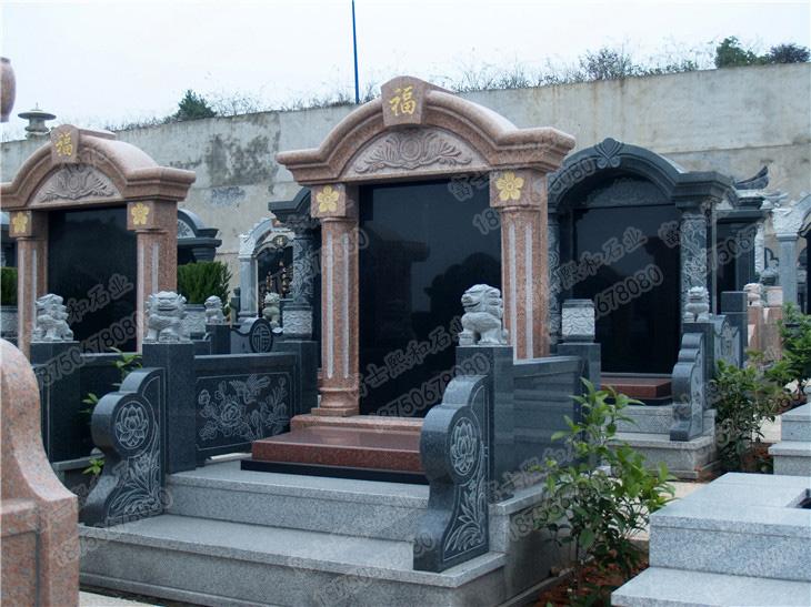 花岗岩墓碑,家族墓碑