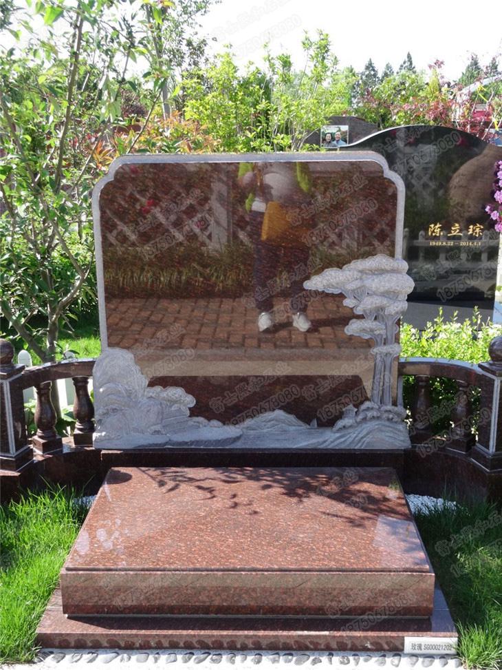 单穴墓碑,花岗岩墓碑