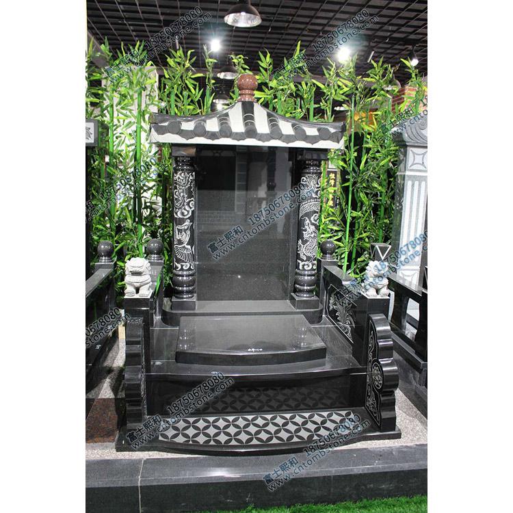 曲靖陆良瓦盖碑顶式墓碑
