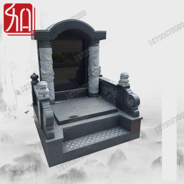 传统石雕墓碑,芝麻黑墓碑厂家