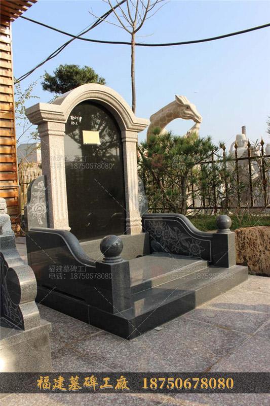 陵园墓碑一套多少钱,花岗岩墓碑,山西黑墓碑