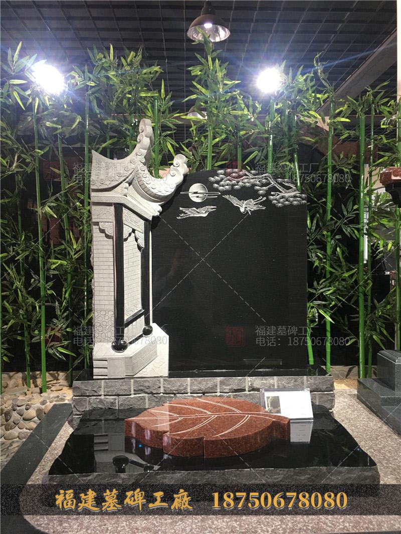 花岗岩火葬墓碑,定制花岗岩石雕墓碑,一套花岗岩火葬碑,