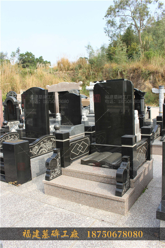 德宏州山西黑火葬碑,黑色石雕墓碑,德宏州墓碑制定厂家,