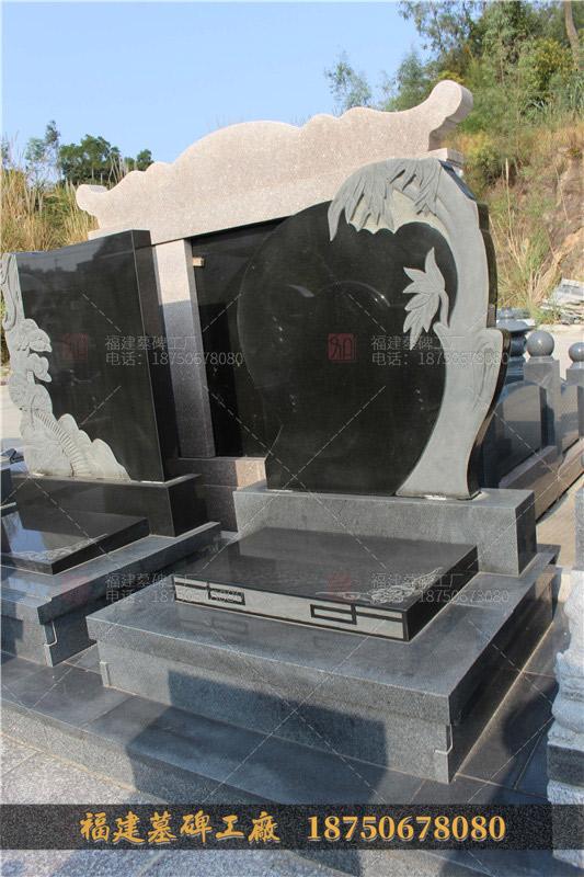 云南石雕火葬碑定制,石雕墓碑产品图,花岗岩石雕火葬碑,