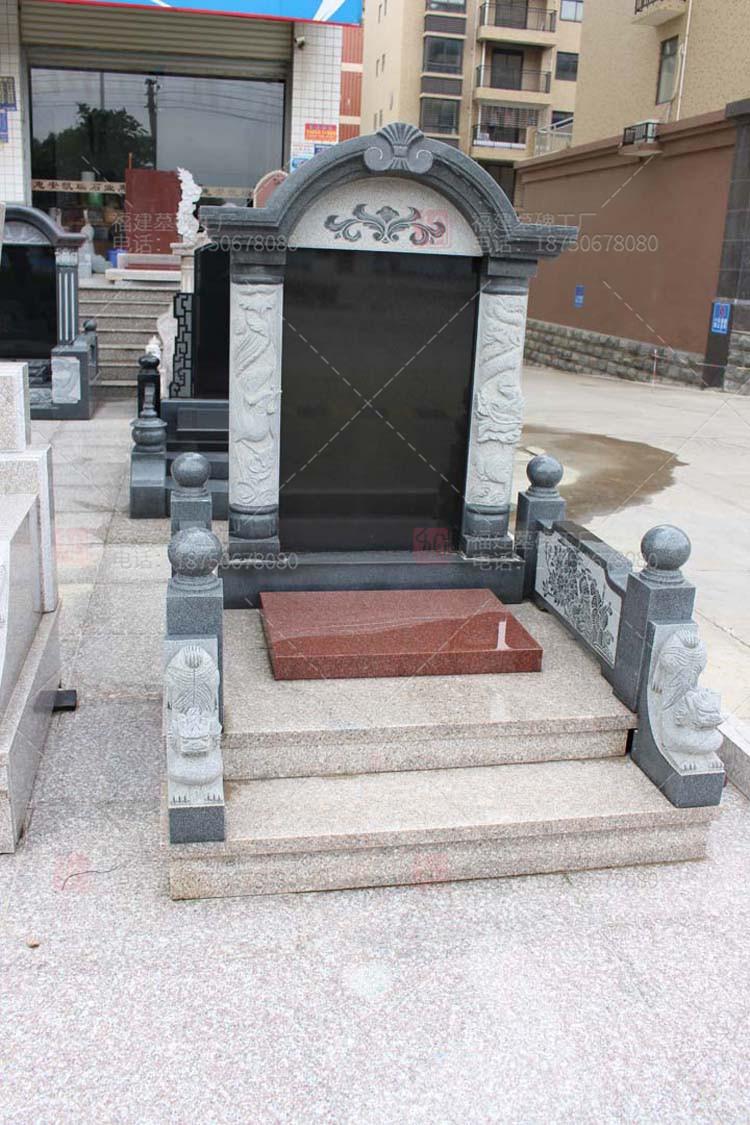 云南德宏州墓碑石碑,德宏州山西黑石雕墓碑,云南红色石雕墓碑,