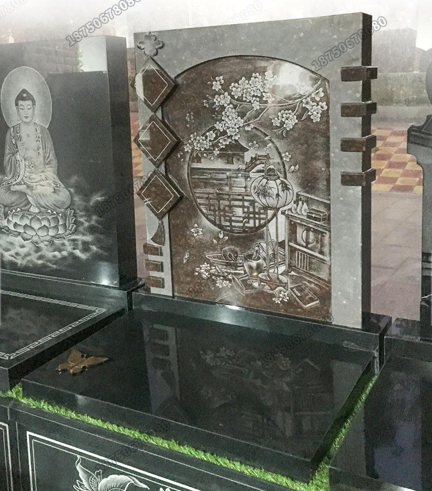 山西黑墓碑石碑,黑色墓碑石碑加工,制作黑色墓碑石碑,