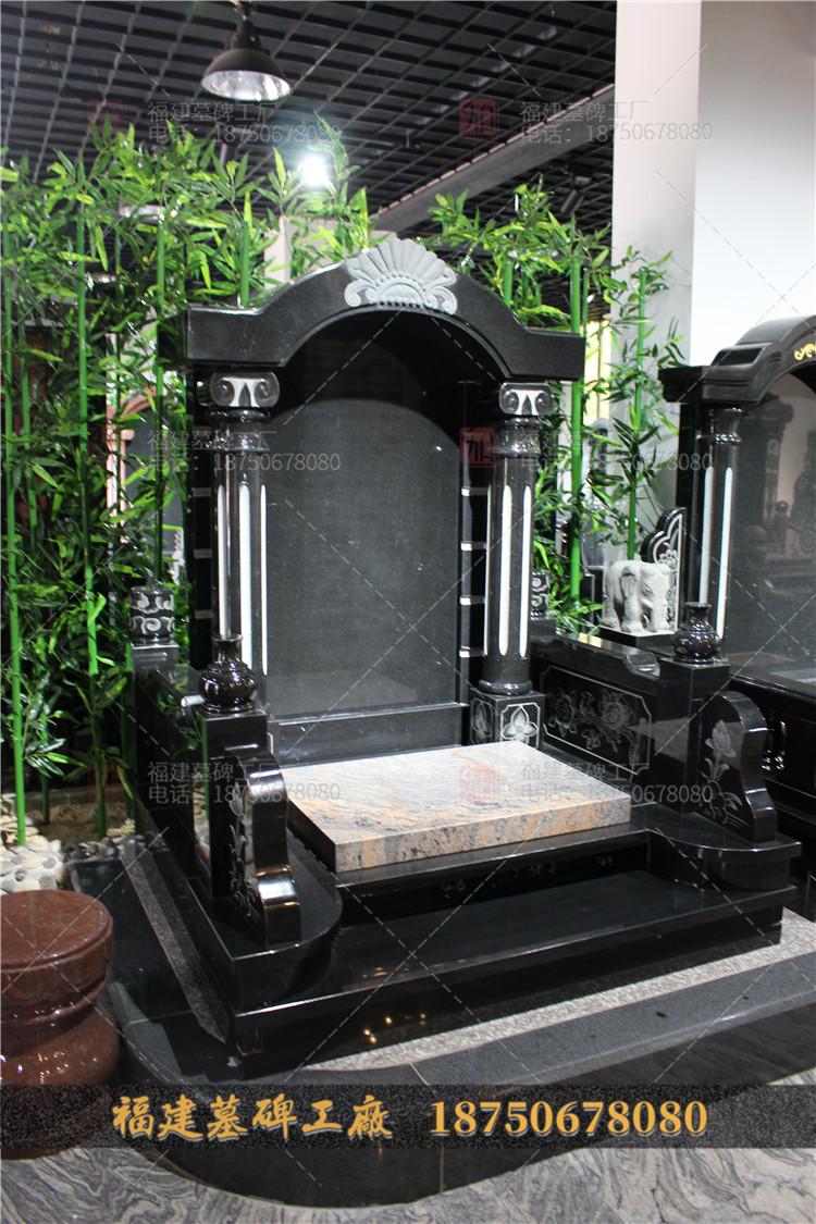 盈江县豪华墓碑,盈江县黑色墓碑,德宏州山西黑石雕墓碑,