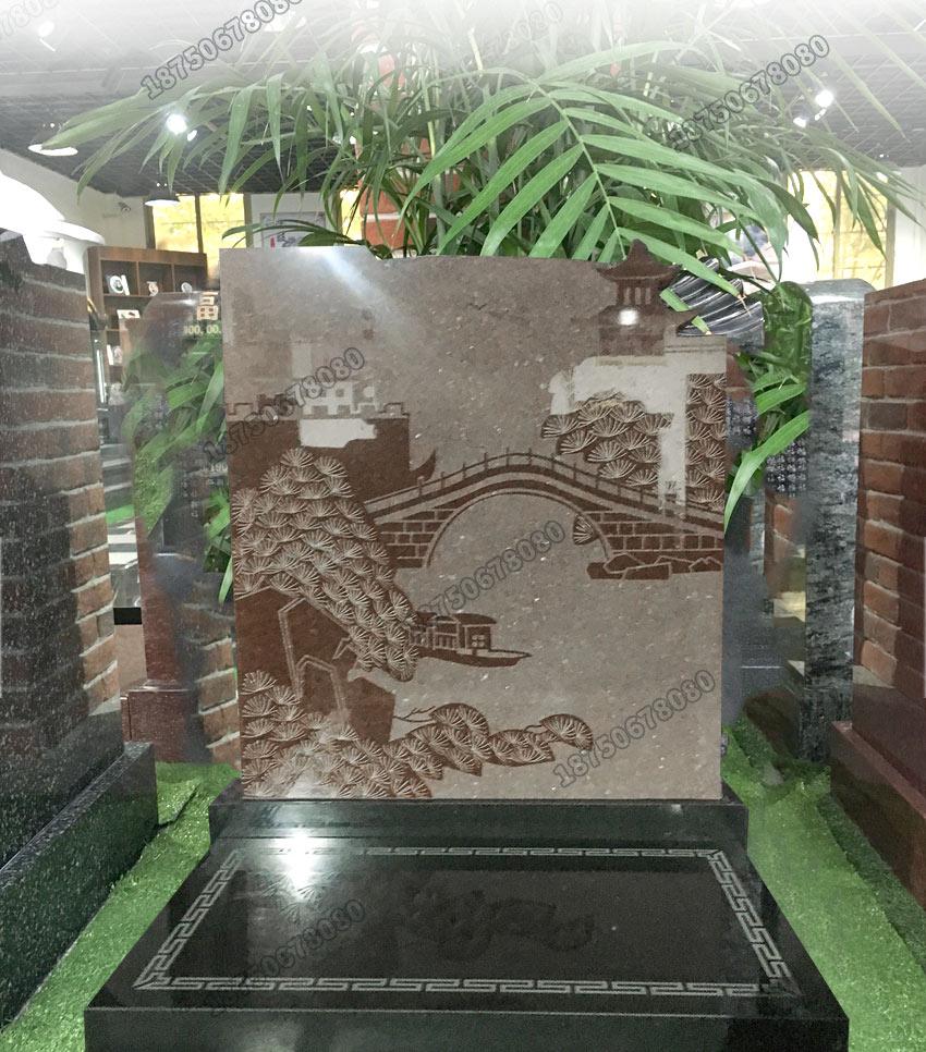 山西黑石雕墓碑,陇川县黑色石雕墓碑,陇川县花岗岩火葬碑,