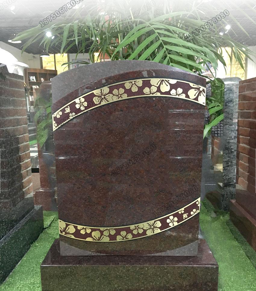 陇川县花岗岩火葬碑,德宏州印度红火葬碑,石雕印度红火葬碑,