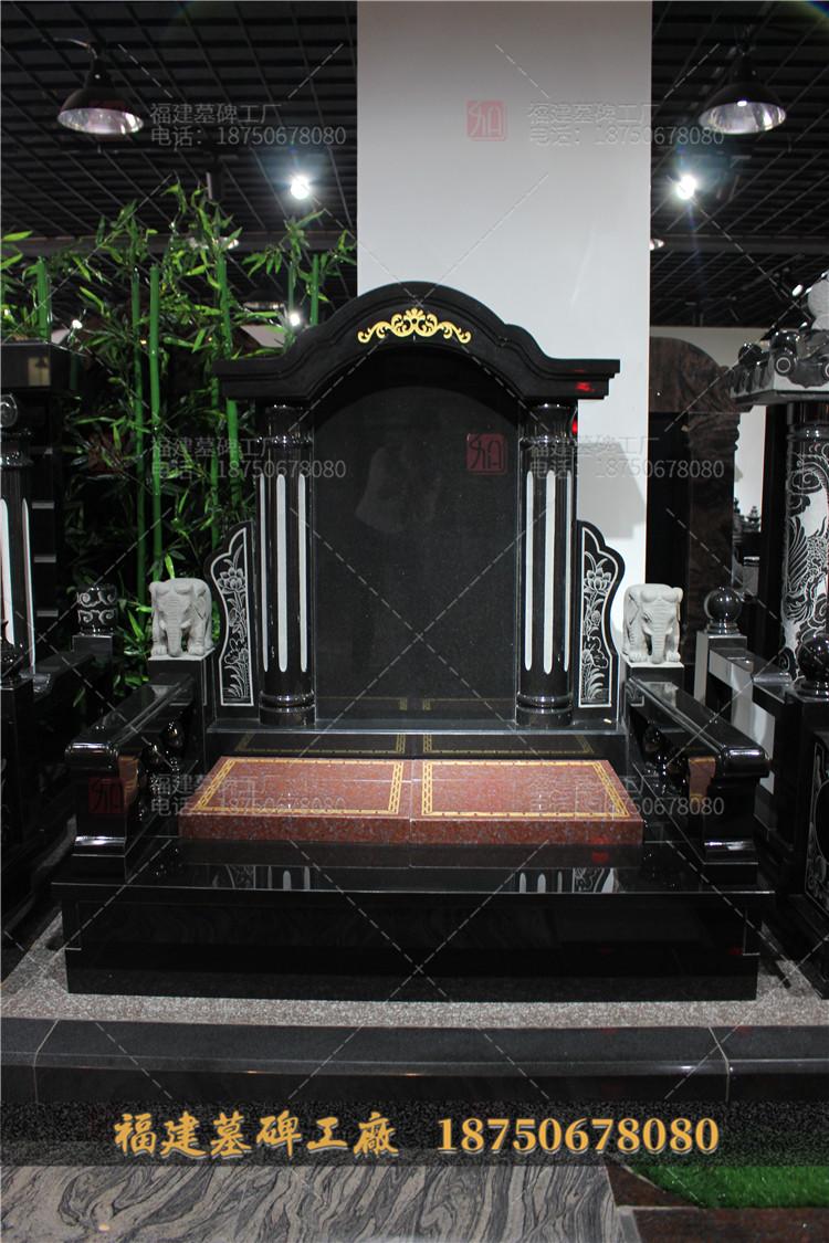 云南花岗岩石雕墓碑,云南陇川县传统墓碑,陇川县小型墓碑定制,