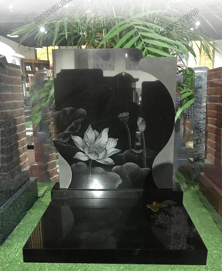 山西黑艺术墓碑,山西黑石雕墓碑,福建黑色石雕墓碑,