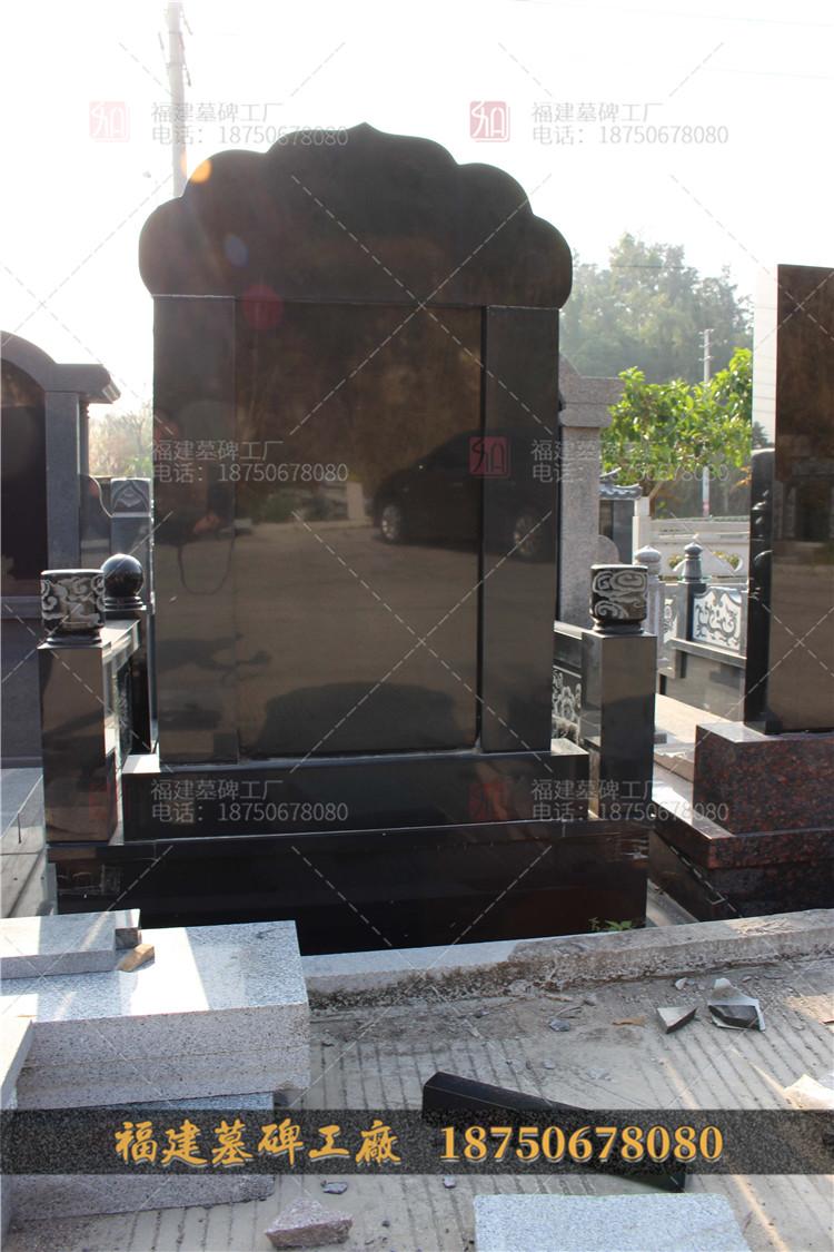 澄江县山西黑石雕墓碑,澄江县黑色石材墓碑,花岗岩石雕墓碑,