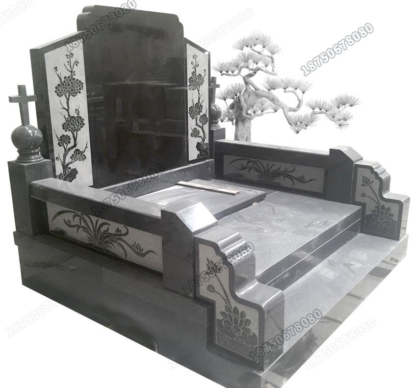 通海县双人墓碑,通海县石雕墓碑订做,订做山西黑双人墓碑,