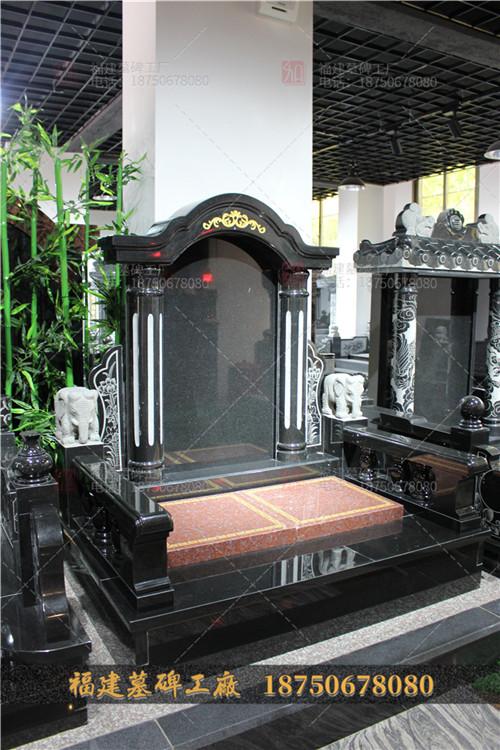 山西黑石雕墓碑,云南黑色石雕墓碑加工,云南传统墓碑定制,
