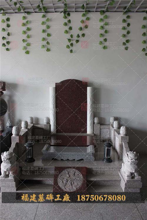 新平彝族傣族自治县墓碑成品,云南石雕墓碑设计,云南灰白色墓碑设计,