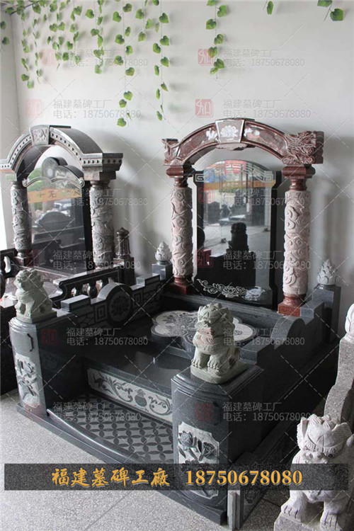 云南陵园墓碑现货,云南陵园墓碑订做,云南印度红石雕墓碑,