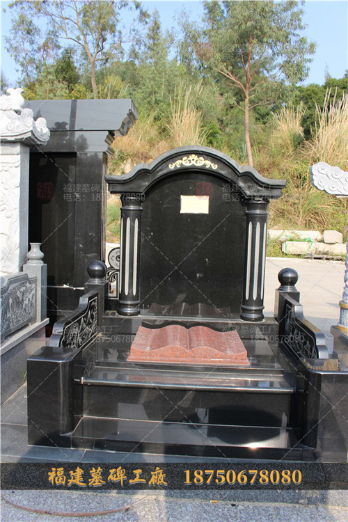 惠安墓碑产品细节图,贵州客户墓碑现场安装图,传统墓碑现场安装图