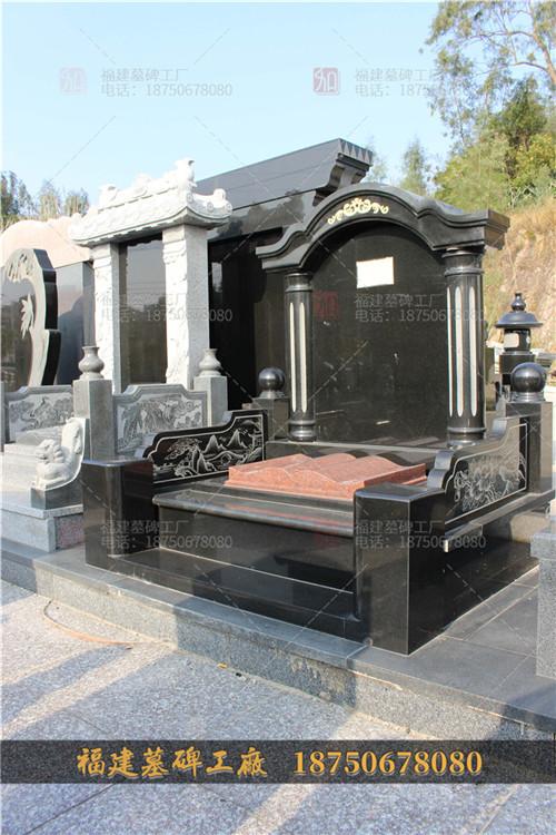 石雕墓碑主碑定做,花岗岩墓碑批发,福建中式墓碑批发,