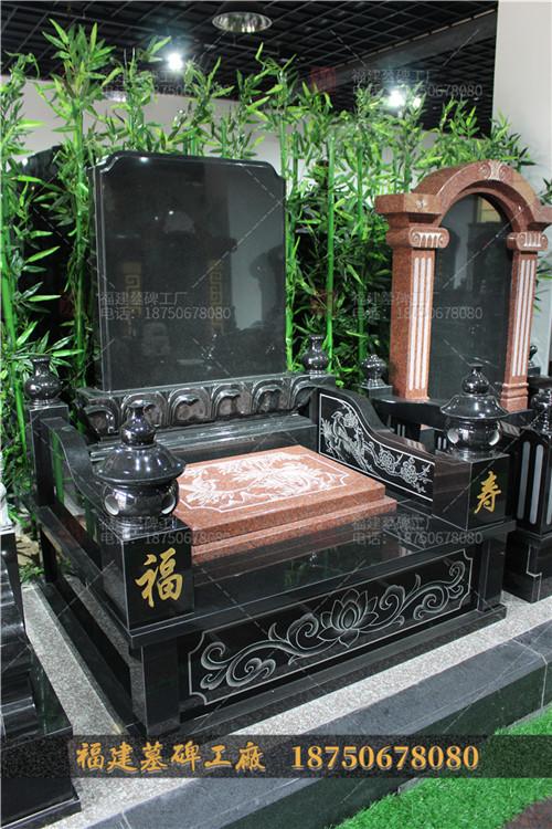 山西黑墓碑现货图片,中式石雕墓碑现货,传统石雕墓碑定制,