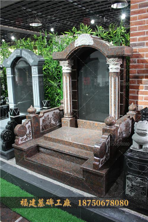 半圆形墓碑批发,方形石雕墓碑批发,印度红墓碑定制厂家,